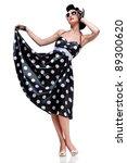 young beautiful caucasian woman ...   Shutterstock . vector #89300620