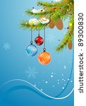 christmas background with... | Shutterstock . vector #89300830