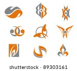 set of abstract symbols for web ... | Shutterstock .eps vector #89303161