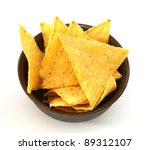 mexican tortilla chips in brown ... | Shutterstock . vector #89312107
