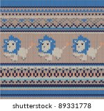 knitted wool pattern ... | Shutterstock .eps vector #89331778