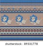 knitted wool pattern ... | Shutterstock .eps vector #89331778