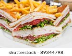 sandwich with bacon   chicken ... | Shutterstock . vector #89344798