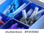equipment for cleaning teeth | Shutterstock . vector #89345083