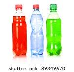 three water bottle isolated on... | Shutterstock . vector #89349670