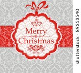 merry christmas card. greeting... | Shutterstock . vector #89353540