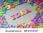 creativity concept with idea... | Shutterstock . vector #89355349