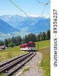 Swiss Alpine Cog Railway Train...