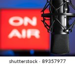 microphone with blurred on  air ... | Shutterstock . vector #89357977
