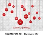hanging christmas balls | Shutterstock . vector #89363845