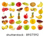 set from thirty various fruits...   Shutterstock . vector #8937592