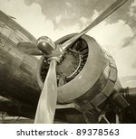 Engine And Propeller Closeup...