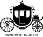 carriage in silhouette | Shutterstock .eps vector #89381122