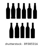 wine bottle sign set | Shutterstock .eps vector #89385316
