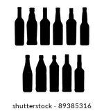 wine bottle sign set | Shutterstock .eps vector #89385316