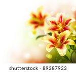 Lily Flowers Border Design...