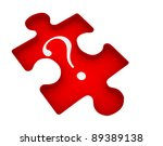 question mark on jigsaw puzzle... | Shutterstock . vector #89389138