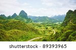 Beautiful Mountain Valley With...