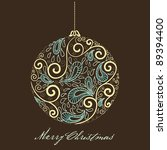 fantasy christmas ball. vector... | Shutterstock .eps vector #89394400