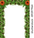 christmas green  framework...   Shutterstock . vector #89397964