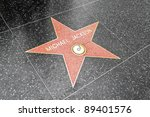 Small photo of LOS ANGELES DEC 29: Michael Jackson's star on the Hollywood Walk of Fame at Hollywood Blvd on December 29, 2009 in Hollywood, Los Angeles, CA. It is one of 2400 celebrity stars.