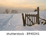 Fence  Field Ans Snow   Typica...