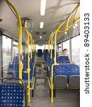 lonely woman on the bus sleeping | Shutterstock . vector #89403133