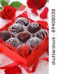 delicious chocolate pralines ... | Shutterstock . vector #89408038