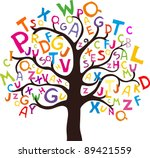 abstract tree with colorful... | Shutterstock . vector #89421559