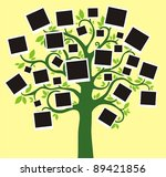 family album. floral tree with... | Shutterstock . vector #89421856
