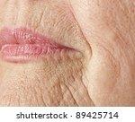 wrinkled woman skin | Shutterstock . vector #89425714