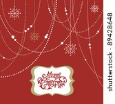 abstract christmas background ... | Shutterstock .eps vector #89428648
