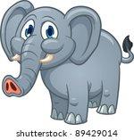 cute cartoon elephant. vector... | Shutterstock .eps vector #89429014