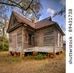 Old Condemned Home In Rural...