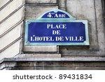 paris  france   hotel de ville...