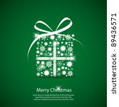 simple christmas card with a... | Shutterstock .eps vector #89436571