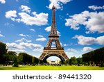 eiffel tower with central...   Shutterstock . vector #89441320