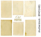 old photo paper texture... | Shutterstock . vector #89451481