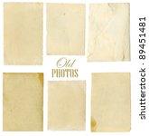 old photo paper texture... | Shutterstock . vector #89451481