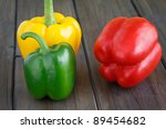 red  yellow and green sweet... | Shutterstock . vector #89454682