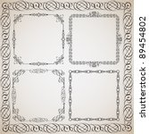 set of calligraphy frames... | Shutterstock .eps vector #89454802