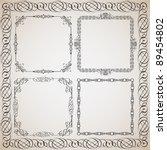 set of calligraphy frames... | Shutterstock .eps vector #89454802