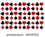 rows of spades  clubs  hearts... | Shutterstock . vector #8945953