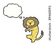 dancing lion cartoon | Shutterstock .eps vector #89460091