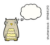 cartoon owl with thought bubble | Shutterstock .eps vector #89484193
