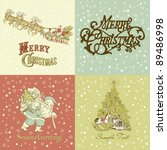 set of christmas cards in... | Shutterstock .eps vector #89486998
