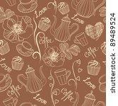 coffee background | Shutterstock .eps vector #89489524