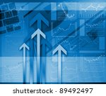 global financial color charts... | Shutterstock . vector #89492497