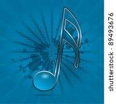 musical note symbol blue...   Shutterstock .eps vector #89493676