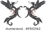 Dragons - stock vector